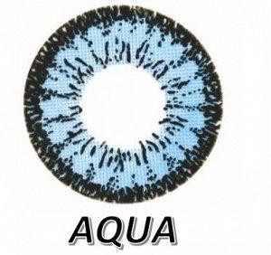 Перекрывающие цветные контактные линзы HERA DREAM Aqua -0.0 ВС 8.6 (2 линзы)