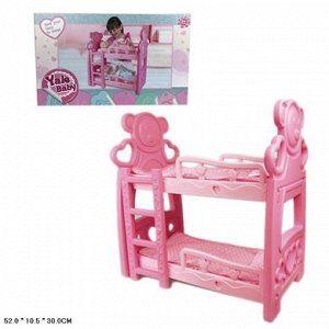 2000D кроватка д/кукол, в коробке 35004