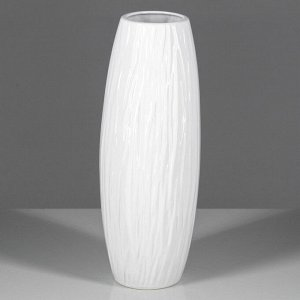 """Ваза настольная """"Феран"""". глянец. белая. 31.5 см. керамика"""