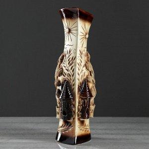 """Ваза настольная """"Натали"""". с замками. 38 см. керамика"""