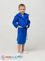Детский вафельный халат с капюшоном