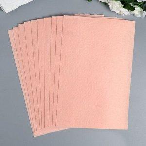 """Фетр жесткий 1 мм """"Персиковый цвет"""" набор 10 листов формат А4"""