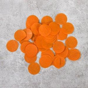 """Наполнитель для шара """"Конфетти круг"""" 2,5 см, бумага, цвет оранжевый, 500г"""