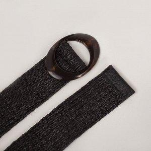 Ремень женский, ширина 5 см, резинка, цвет чёрный