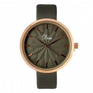"""Часы наручные женские """"Disu"""", ремешок из экокожи, серые 4407012"""