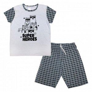 Пижама для мальчиков арт 11055-1