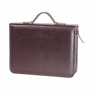 Набор дорожный в сумке из натуральной кожи (2 персоны)