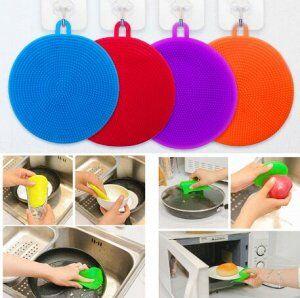 Щетка для мытья посуды силикон, в ассортименте