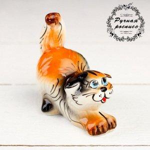 Сувенир  «Котик» , трехцветный, гжель