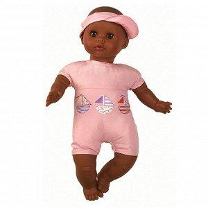 07151 Кукла Малышка в розовом, мулатка, 34 см