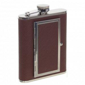 Фляжка с портсигаром, 200 мл, L9,5 W2 H13,5 см