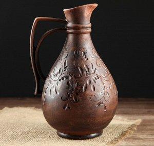 Кувшин под вино с декором 1 литр