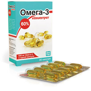 Омега-3 концентрат 60% капс.1000 мг 30 капсул