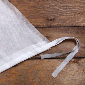 Чехол для растений, конус на завязках, 160 ? 110 см, спанбонд с УФ-стабилизатором, плотность 60 г/м?, белый