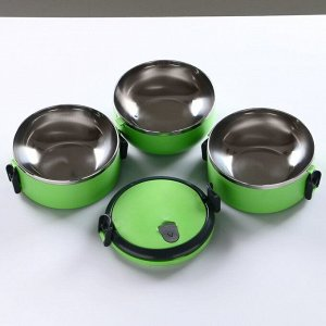 """Ланч-бокс """"Мармелети"""", 1.5 л, 3 тарелки, сохраняет тепло 3 ч, МИКС, 16 ? 19 см"""