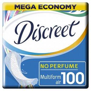 DISCREET Ежедневные гигиенические прокладки Air Multiform (100 шт.)