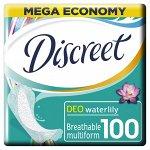 DISCREET  Ежедневные гигиенические прокладки Deo Water Lily Multiform (100 шт.)