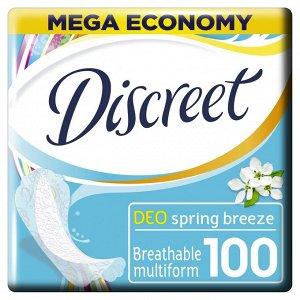 DISCREET  Ежедневные гигиенические прокладки Deo Spring Breeze Multiform (100 шт.)
