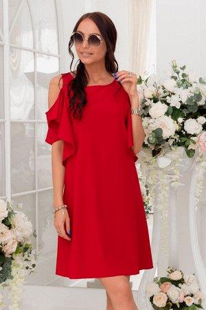 Красный сарафан с открытыми плечами