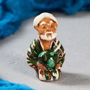 Фигурка керамическая Узбек с арбузом 8 см. МИКС