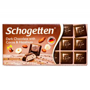 Шоколад SCHOGETTEN Dark Chocolate with Cocao&Hazelnuts 100 г 1уп. х 15шт.