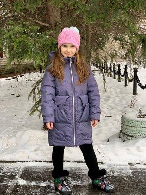 Пальто демисезонное для девочек (Ткань верха плащевая Альпина,подкладка х/б+100п/э,утеплитель Сиберия 200, по л/талии кулиска, в