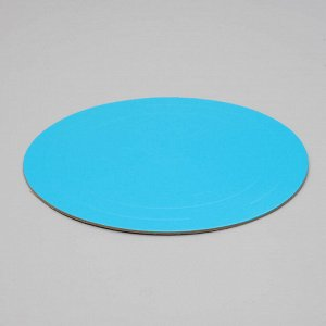Подложка усиленная,золото - голубой, 28 см, 3,2 мм
