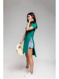Женское трикотажное платье (туника)MAG JEANS зеленое