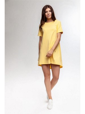 Женское трикотажное платье (туника) MAG JEANS Желтый