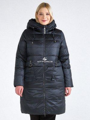 Женская зимняя классика куртка большого размера болотного цвета