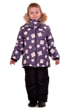 Комплект зимний для мальчика, синтепон - куртка 300 гр, полукомбинезон 200 гр.