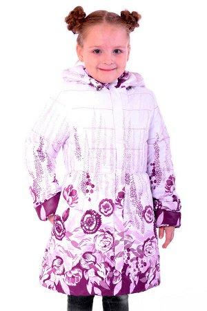 10-0956 Куртка демисезонная Плащевка Слива-белый