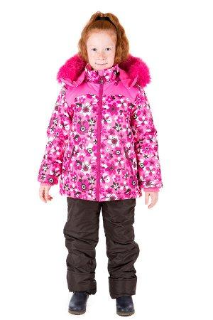 Комплект зимний для девочки, синтепон - куртка 300 гр, полукомбинезон 200 гр.