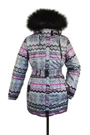 10-0315 Куртка зимняя для девочки, синтепон 300 гр. Плащевка фуксия