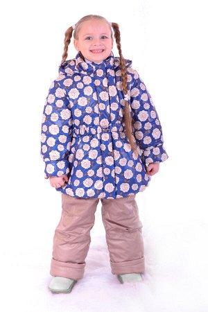 Комплект демисезонный комплект для девочки, синтепон - куртка 200 гр, полукомбинезон 200 гр.