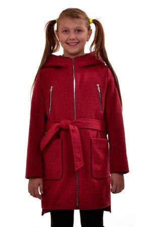 Пальто Материал: Кашемир РАЗМЕР: Рост 164,Рост 158,Рост 146 ЦВЕТ: Красный