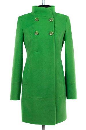 01-07136 Пальто женское демисезонное Пальтовая ткань яблоко