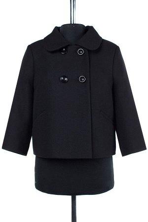 01-07089 Пальто женское демисезонное Пальтовая ткань черный