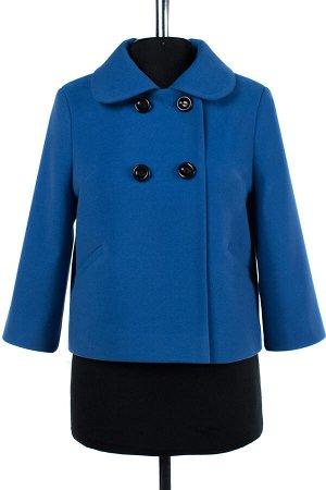 01-07042 Пальто женское демисезонное Пальтовая ткань лагуна