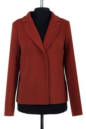 01-06889 Пальто женское демисезонное Пальтовая ткань терракот