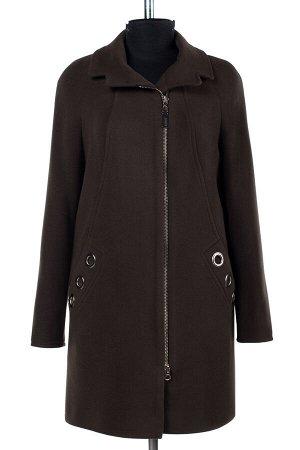 01-06765 Пальто женское демисезонное Пальтовая ткань хаки