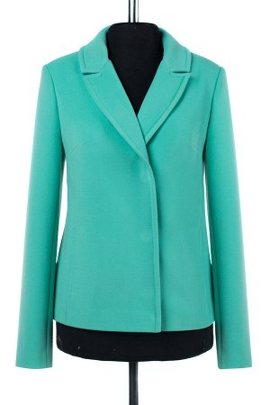 01-07518 Пальто женское демисезонное Пальтовая ткань мята