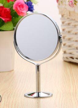 Зеркало на ножке.Цв.  Серебро. Круглое