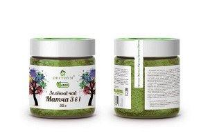 Зеленый чай Матча 3 в 1, 50 гр.