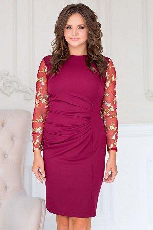Платье Шарлиз цвет марсала (П-74-5)