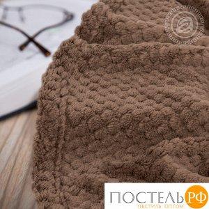 """15/4 Плед флисовый """"Роскошь"""" 150*200, Капучино"""