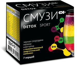 Смузи Detox Sport с малиной и чёрной смородиной 12 гр. х 7 пакетиков