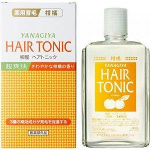 """113518 """"Yanagiya"""" """"Hair Tonic"""" Тоник для стимуляции роста и предотвращения выпадения волос с ментолом и ароматом цитрусовых 240м"""