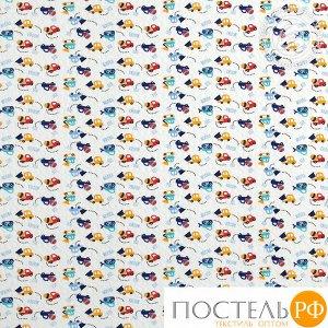 2280 Одеяло-покрывало трикотажное 100*140 Забавные машинки