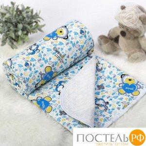 2280 Одеяло-покрывало трикотажное 100*140 Карапуз голубой